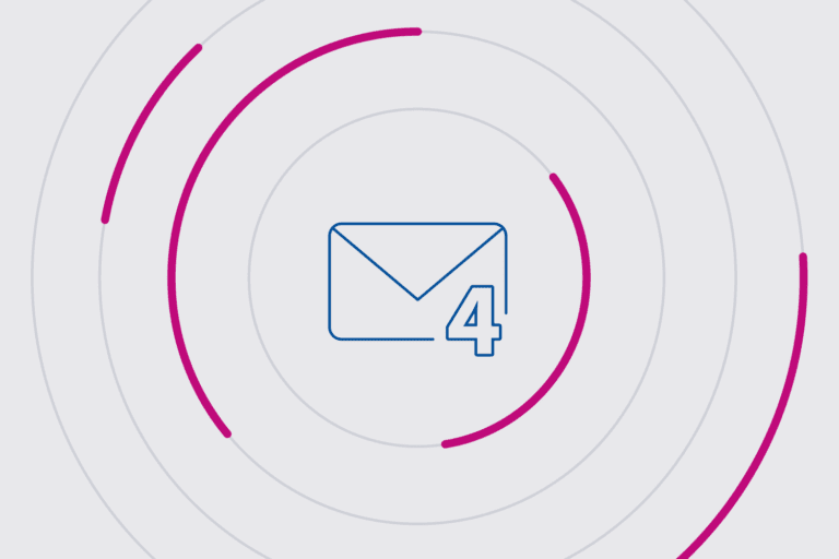 Email icon depicting 4 steps to improve email deliverability