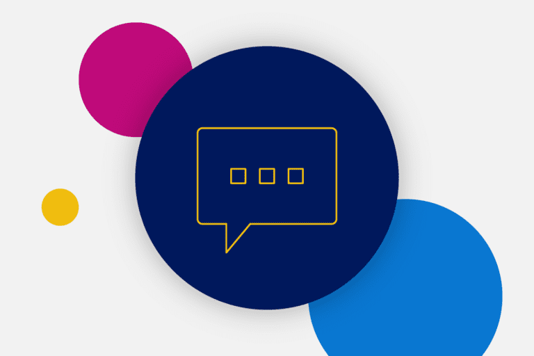 SMS text bubble icon to depict our February demo recap
