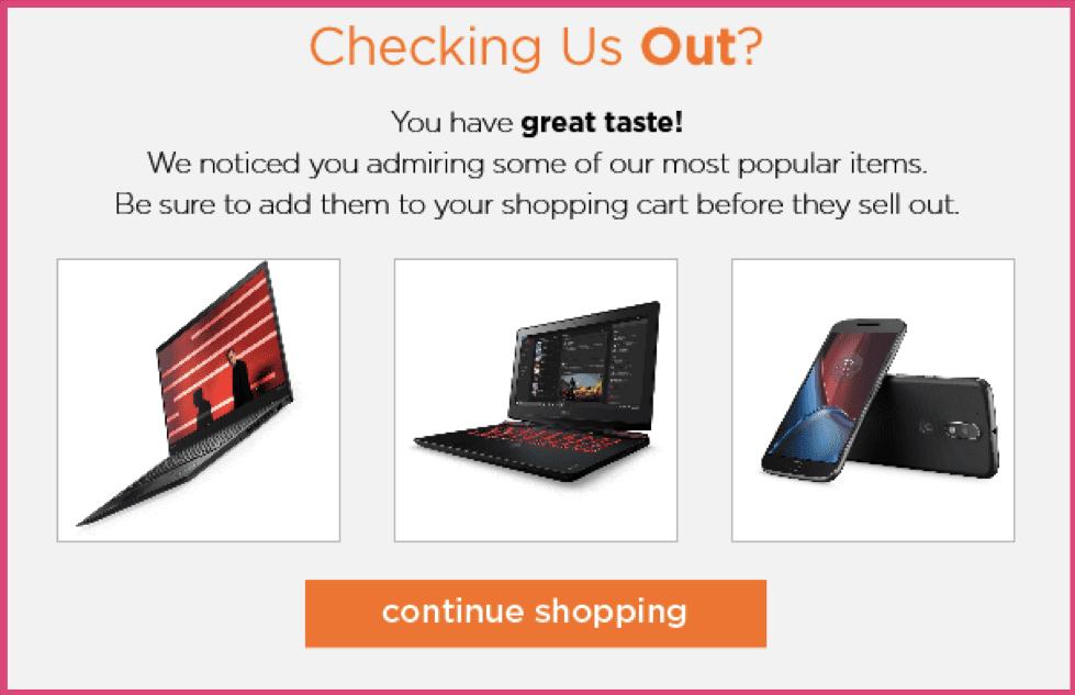 Lenovo email screenshot