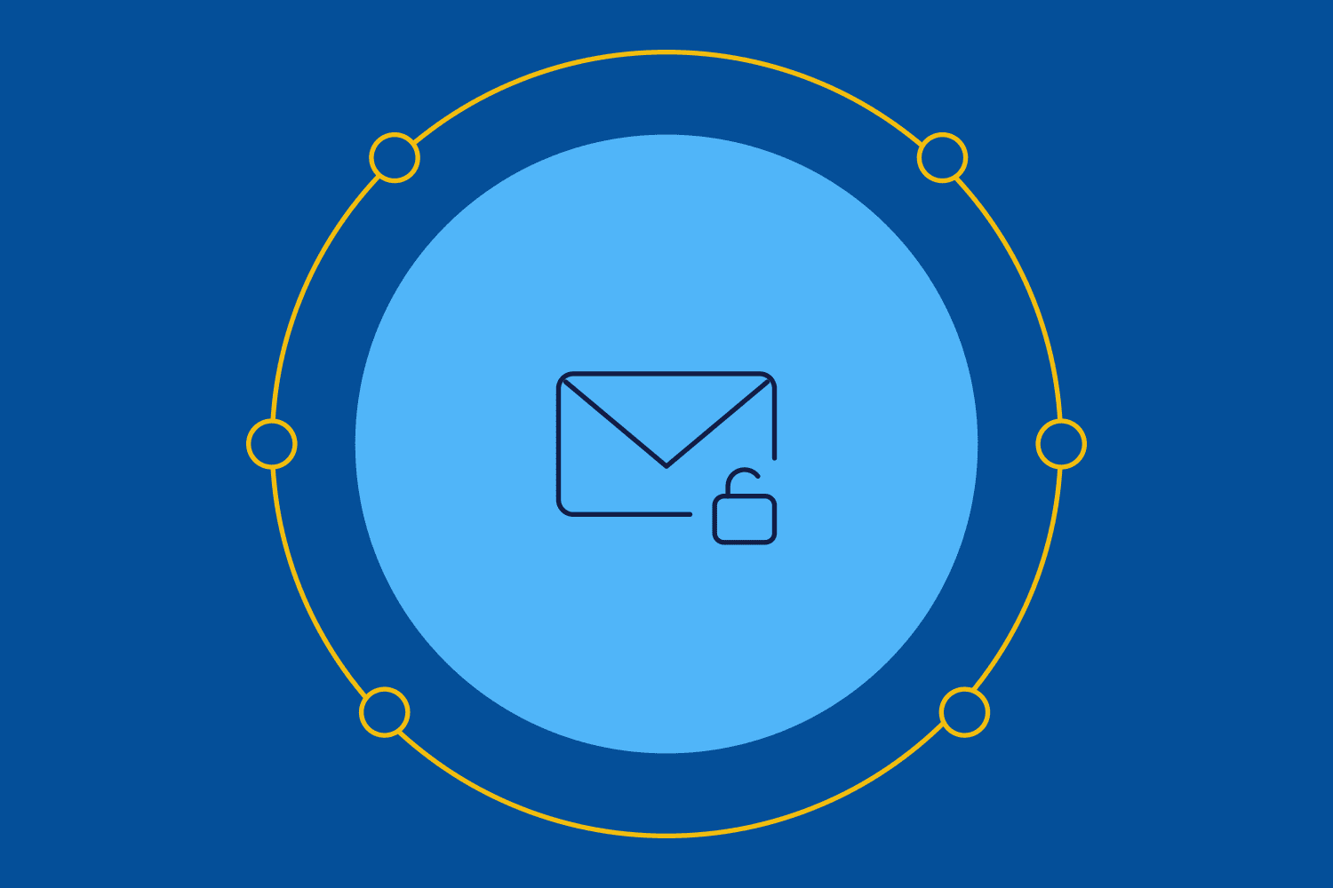 Email icon with security lock to represent DMARC