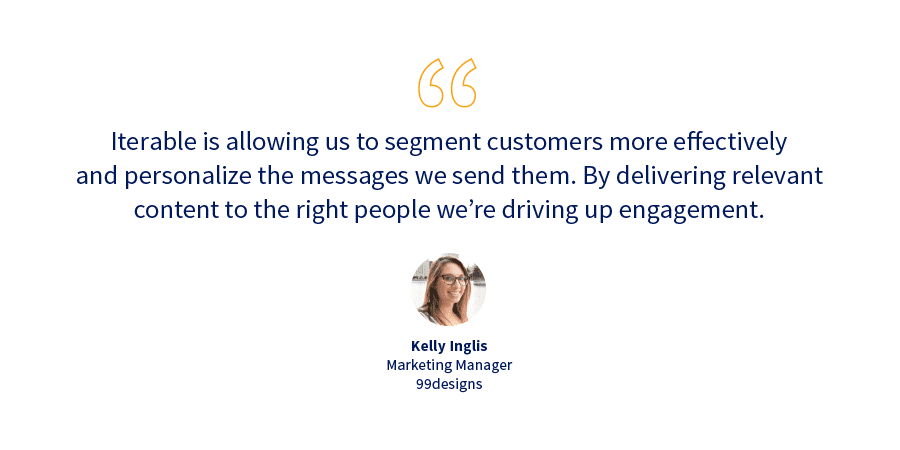 99designs customer case study quote