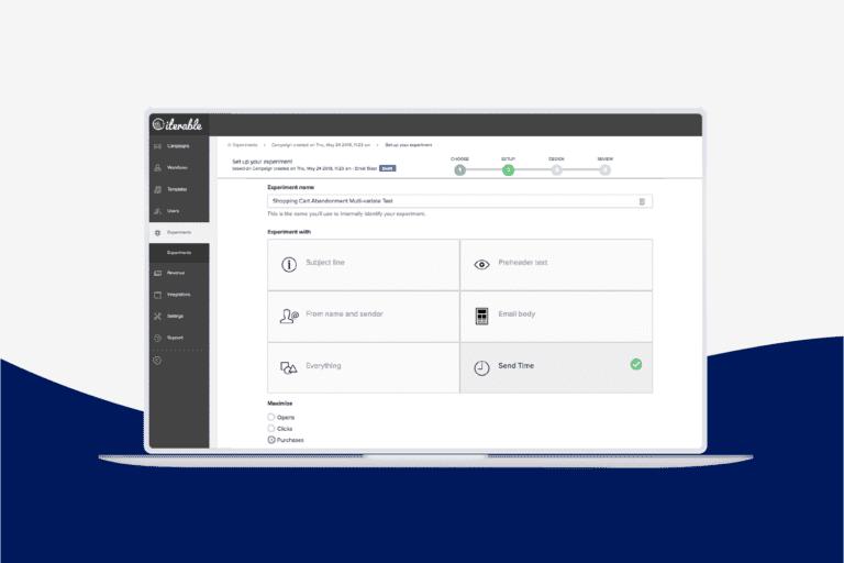 Send-Time Experiments desktop dashboard