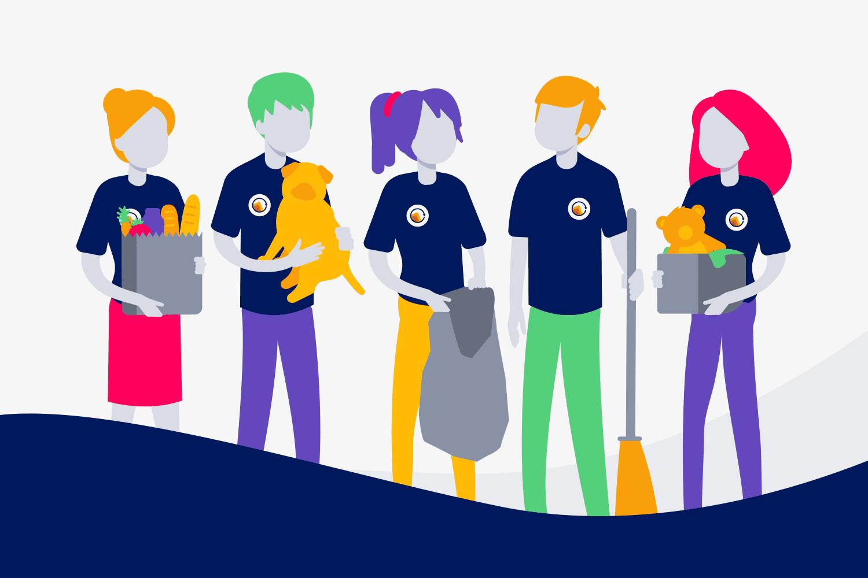 Char-iterable volunteer illustration