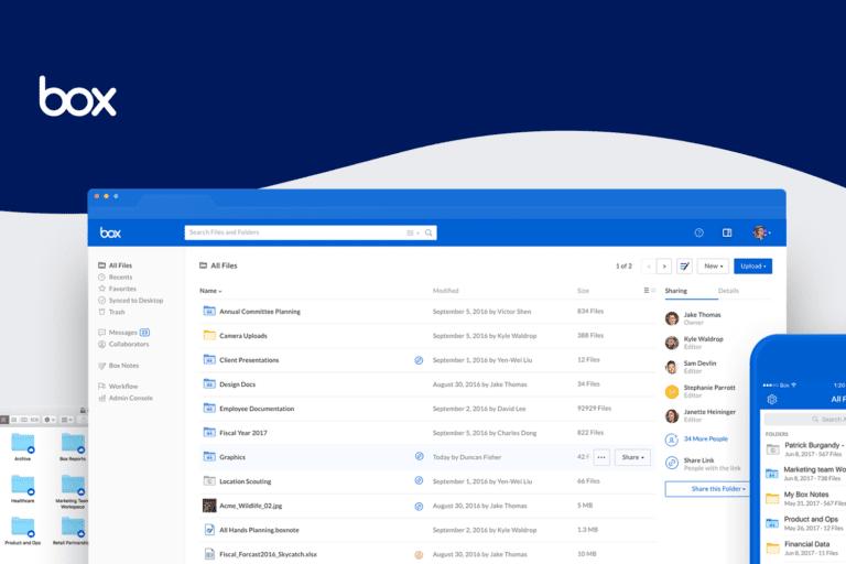 Box software screenshot