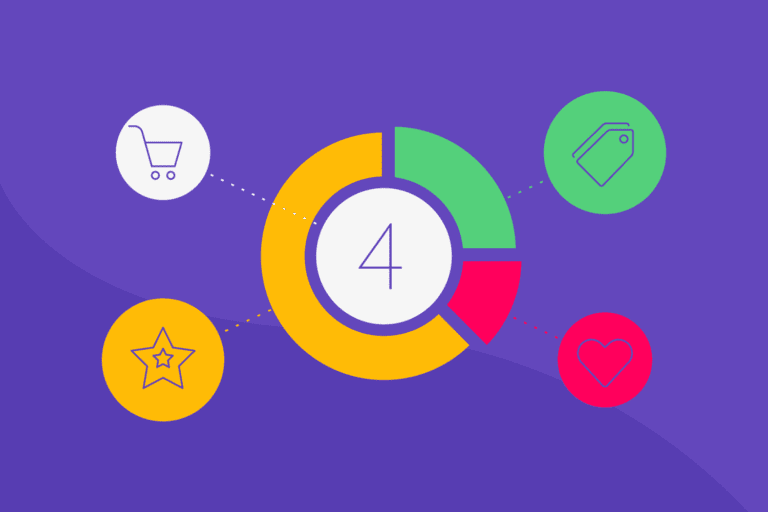 4 icons to represent ecommerce customer segments