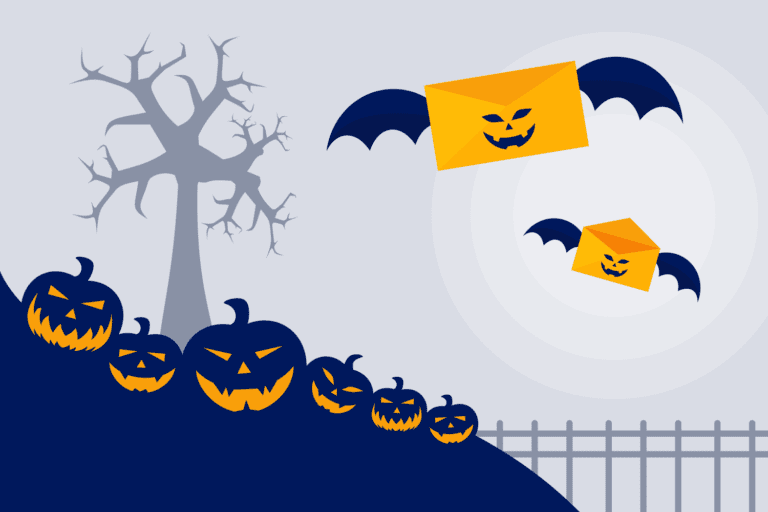 Halloween email illustration