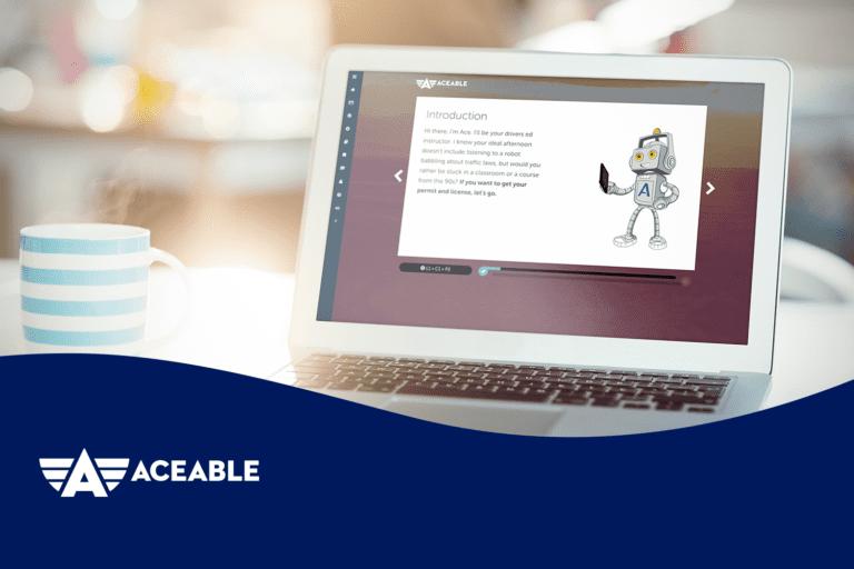 Aceable UI on laptop