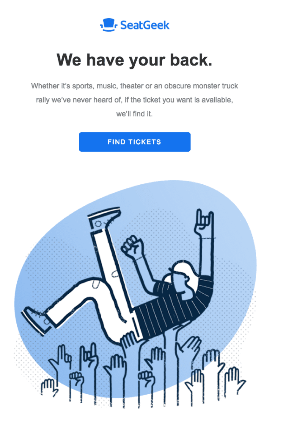 SeatGeek email screenshot