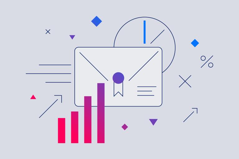 Illustration to depict direct mail marketing budget