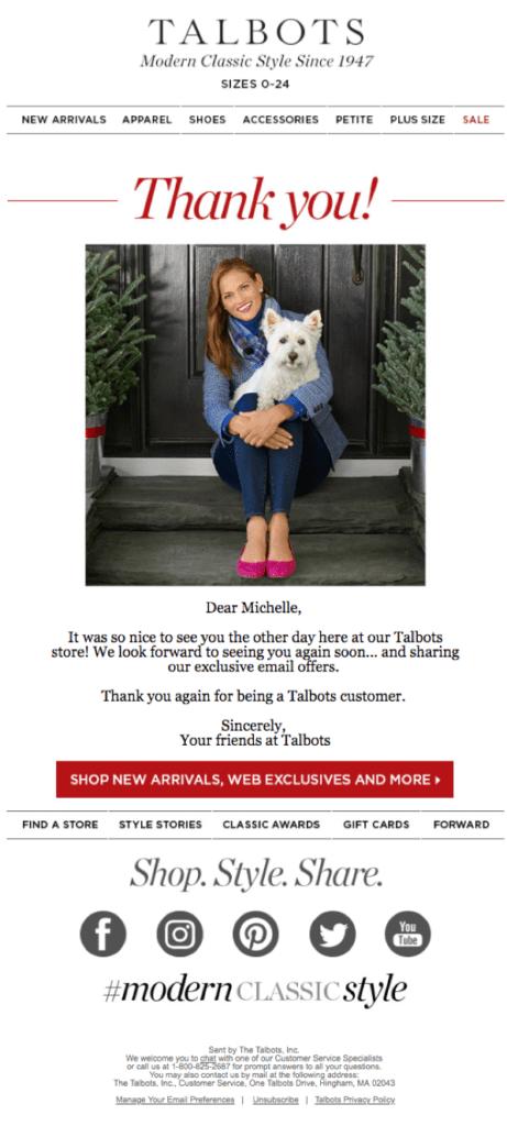 Best of 2018 Cross-Channel Marketing: Talbots