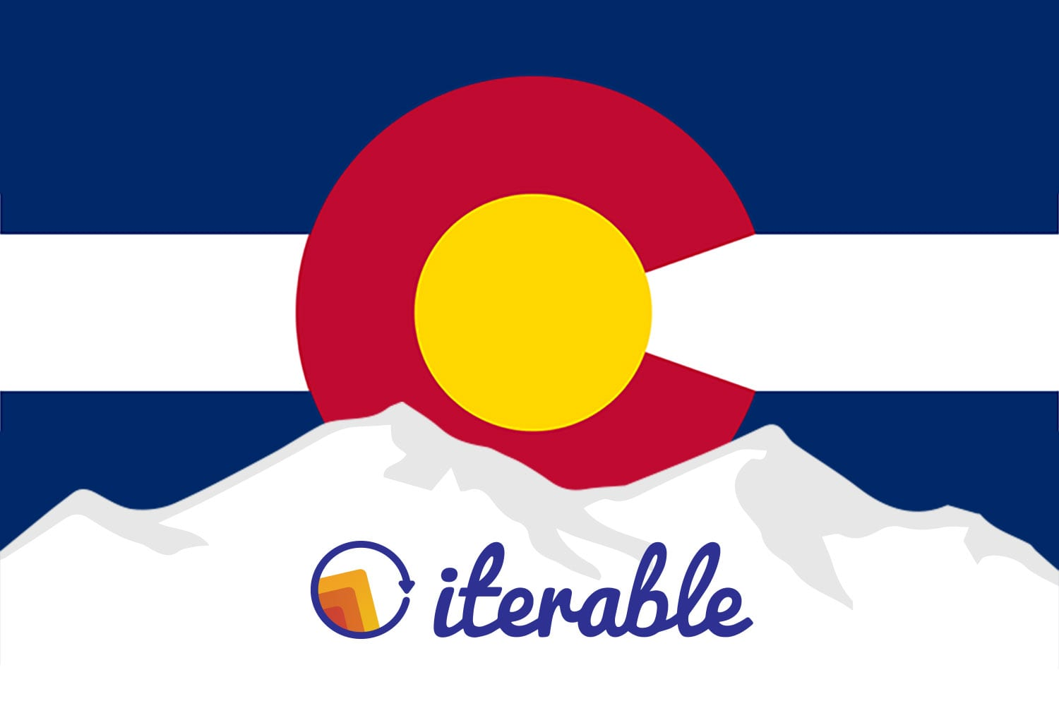 Colorado flag to celebrate Iterable's Denver office