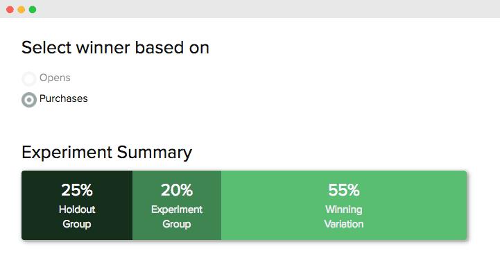 Product Enhancements - Experiments UI screenshot