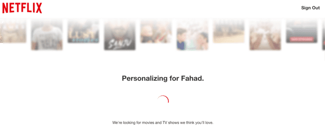 Netflix post-click experience: Personalization
