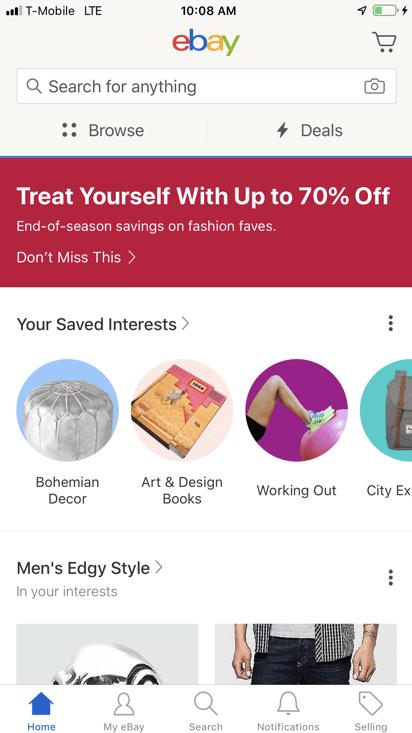 eBay mobile engagement