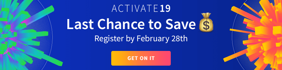 Activate 19 Early Bird Banner
