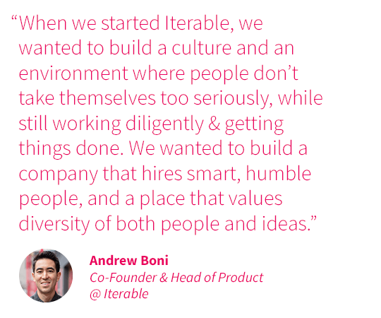 Andrew Boni Best Places to Work quote