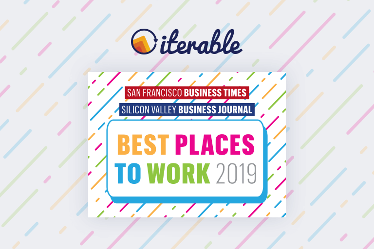 Iterable recognized as 2019 Bay Area Best Places to Work