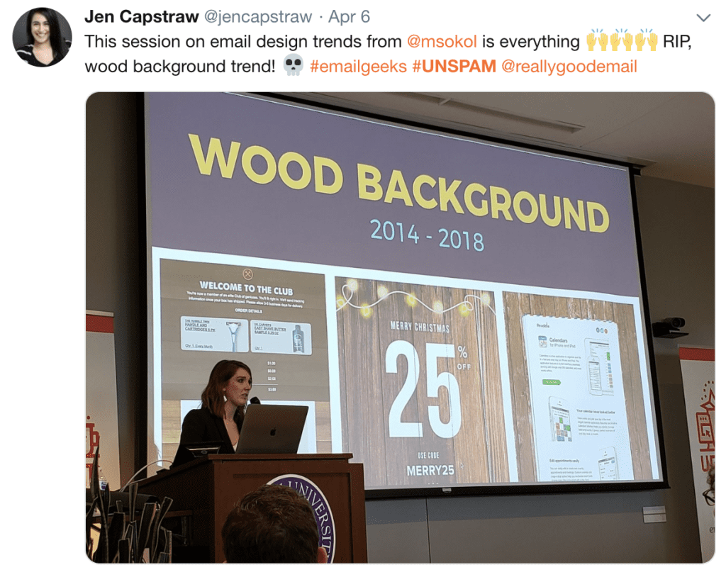 Wood background RIP tweet