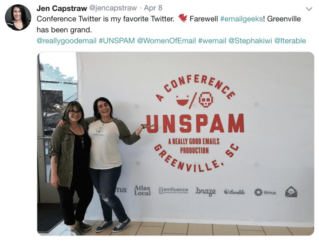 UNSPAM farewell tweet