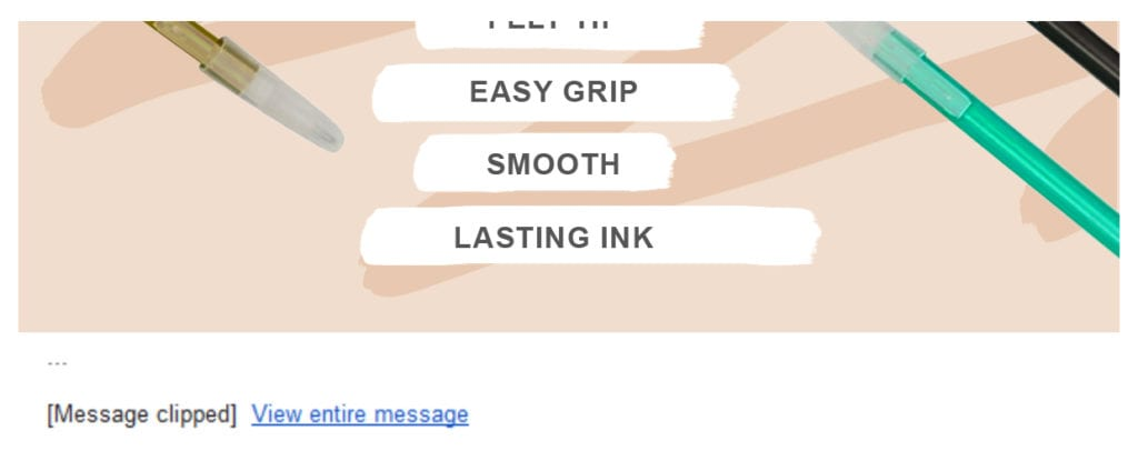 Mobile Email Clipping Example