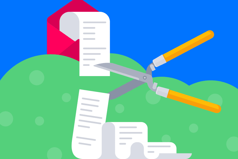 Email list pruning illustration