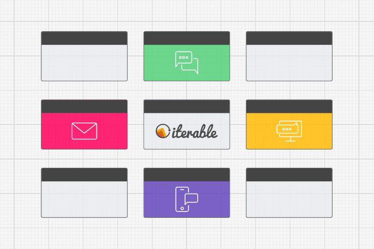 Illustration depicting an onboarding campaign in Iterable