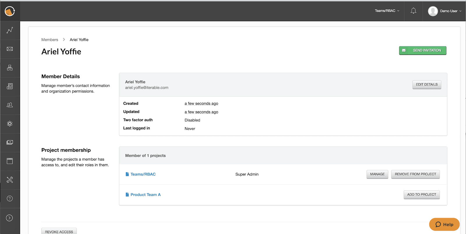 Member Details add clarity to admin user experience