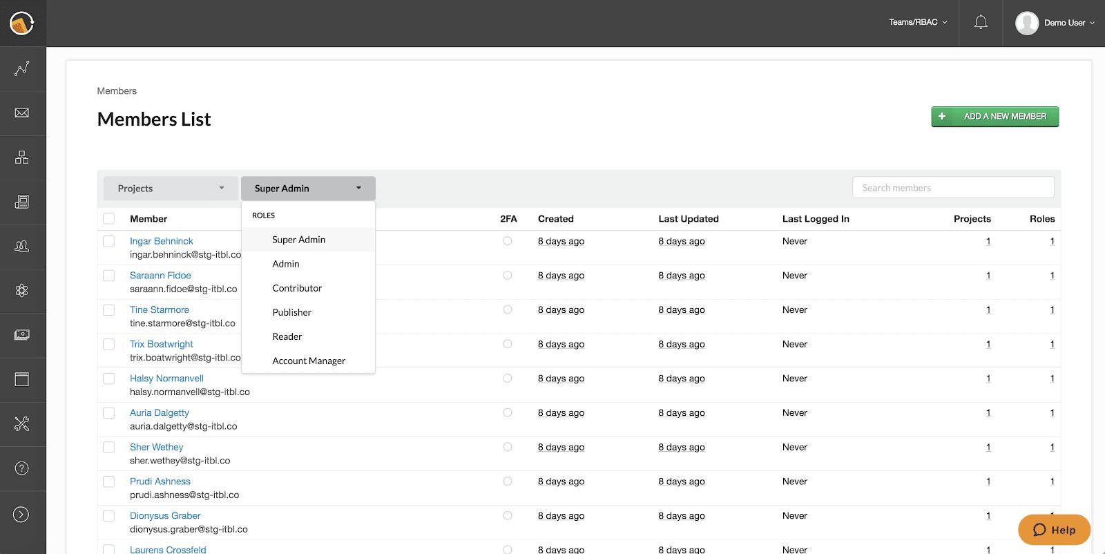 Members List view simplifies admin user experience