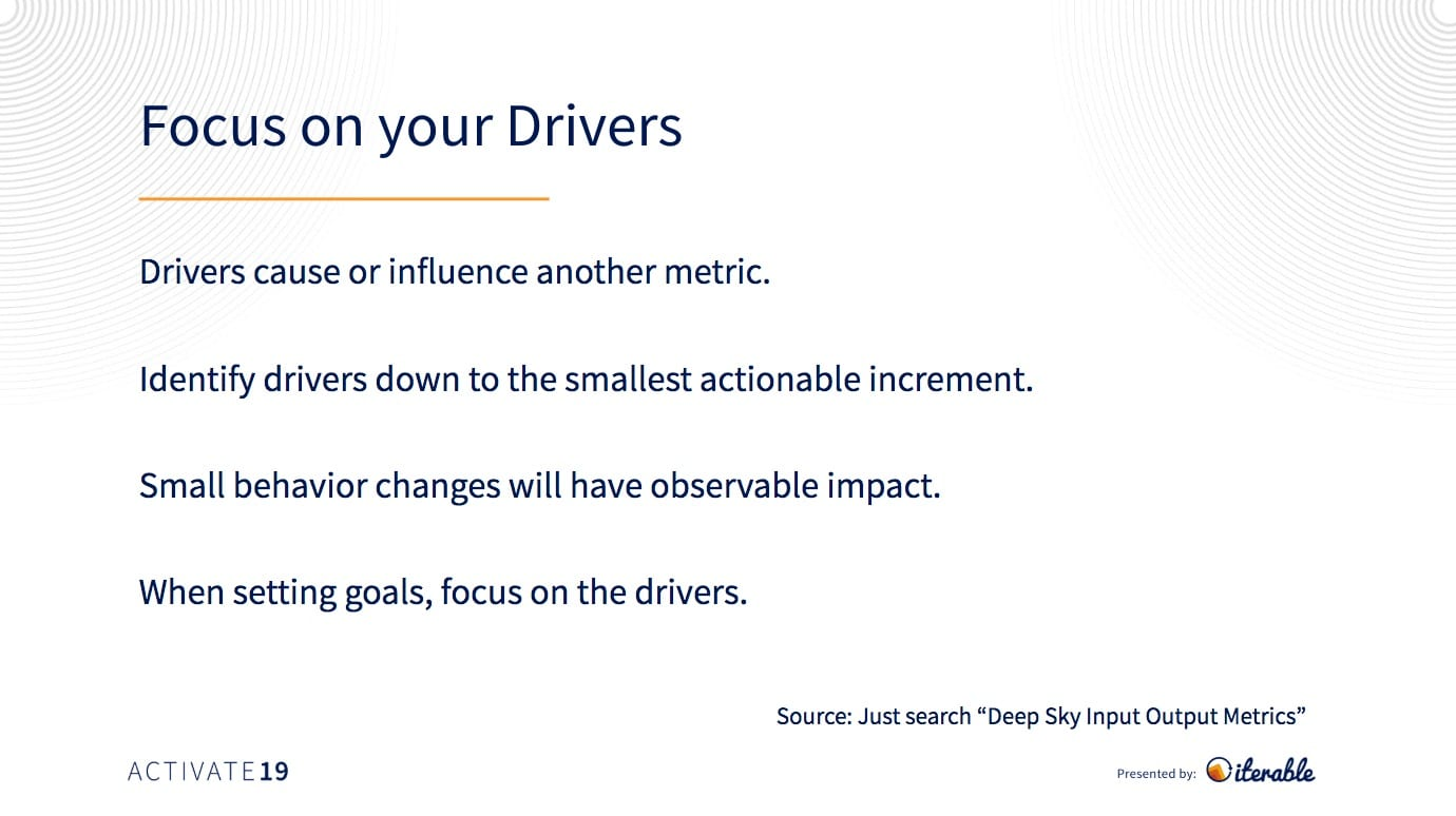 drivers that influence campaign metrics