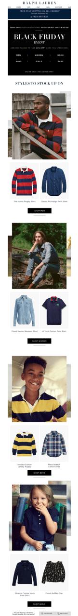Ralph Lauren U.S. Black Friday email