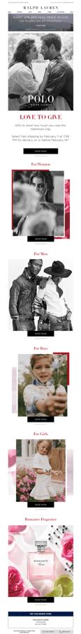 Ralph Lauren U.S. Valentine's Day email