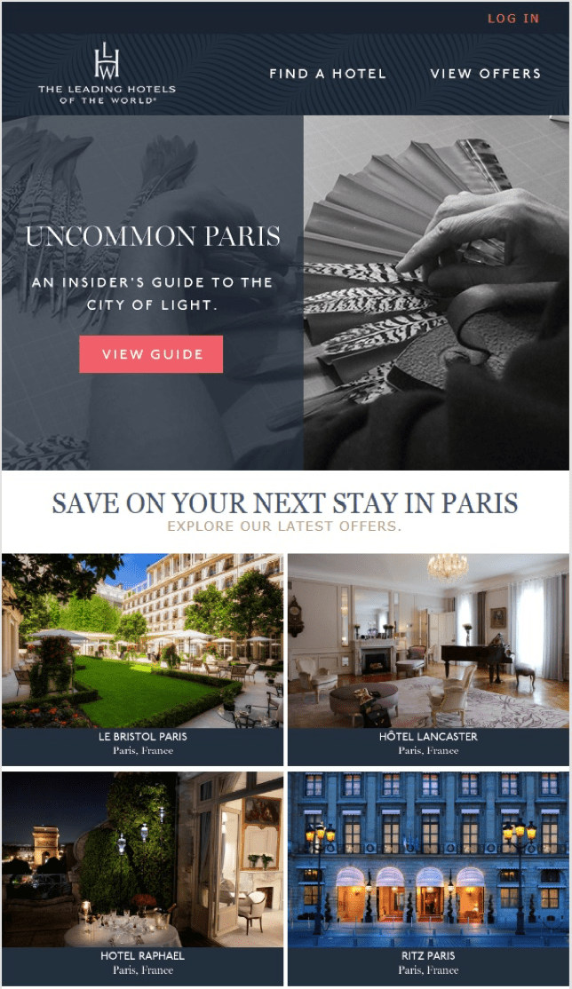 Email from Leading Hotels of the World