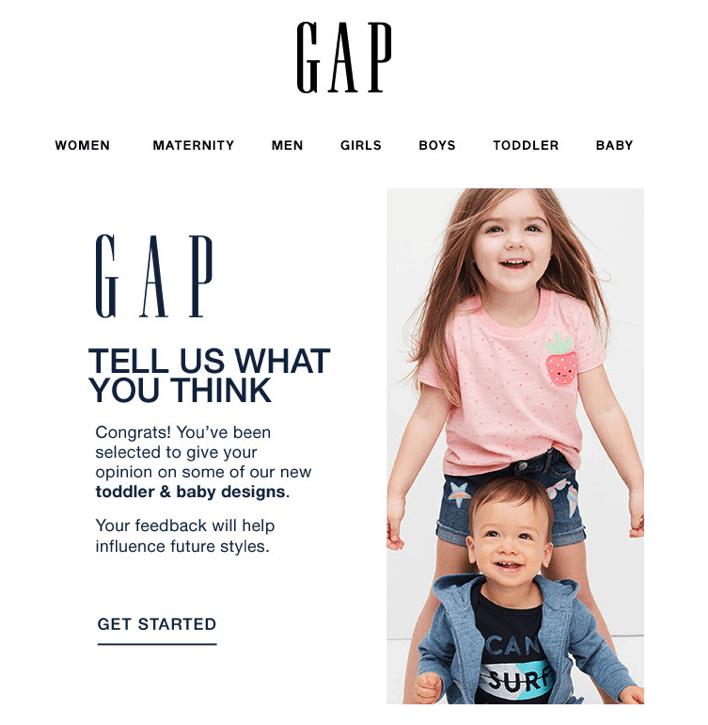 Gap feedback campaign