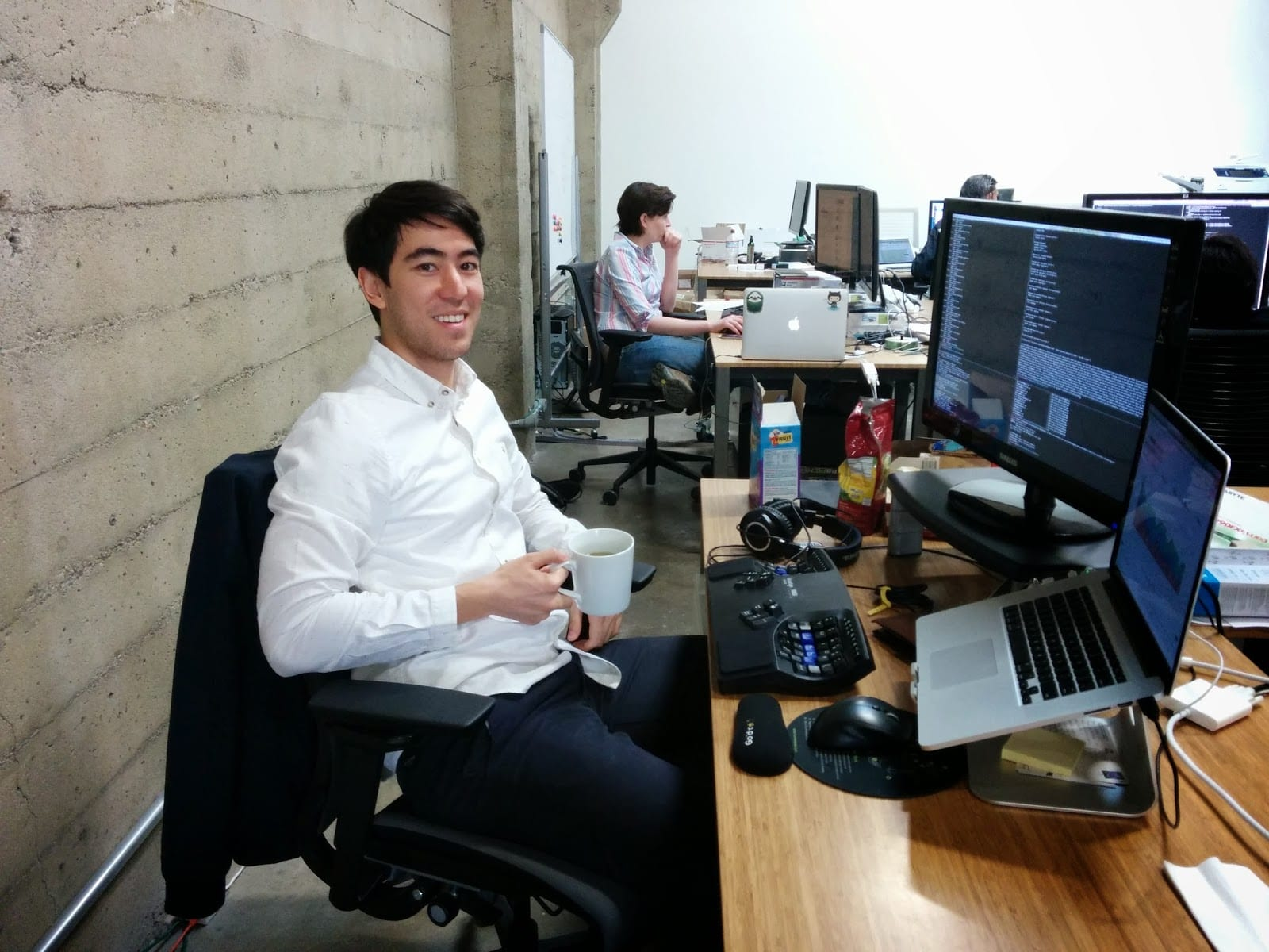 Iterable Head of Product Andrew Boni in the old office
