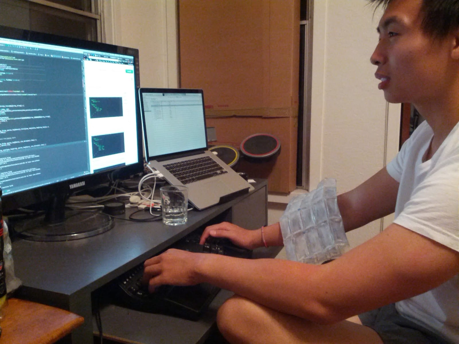 Iterable CEO Justin Zhu in the old office