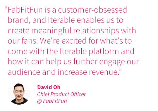 Quote from David Oh at FabFitFun
