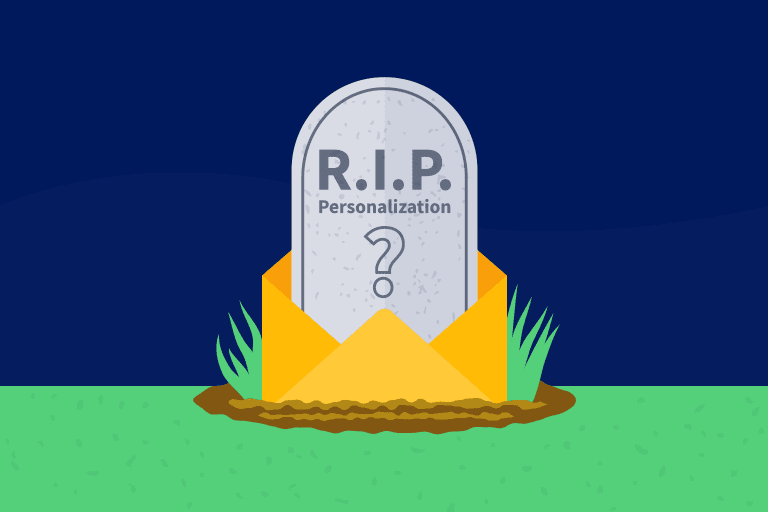 Headstone to depict the death of personalization
