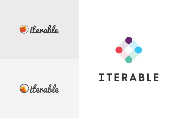 Iterable's old and new logos