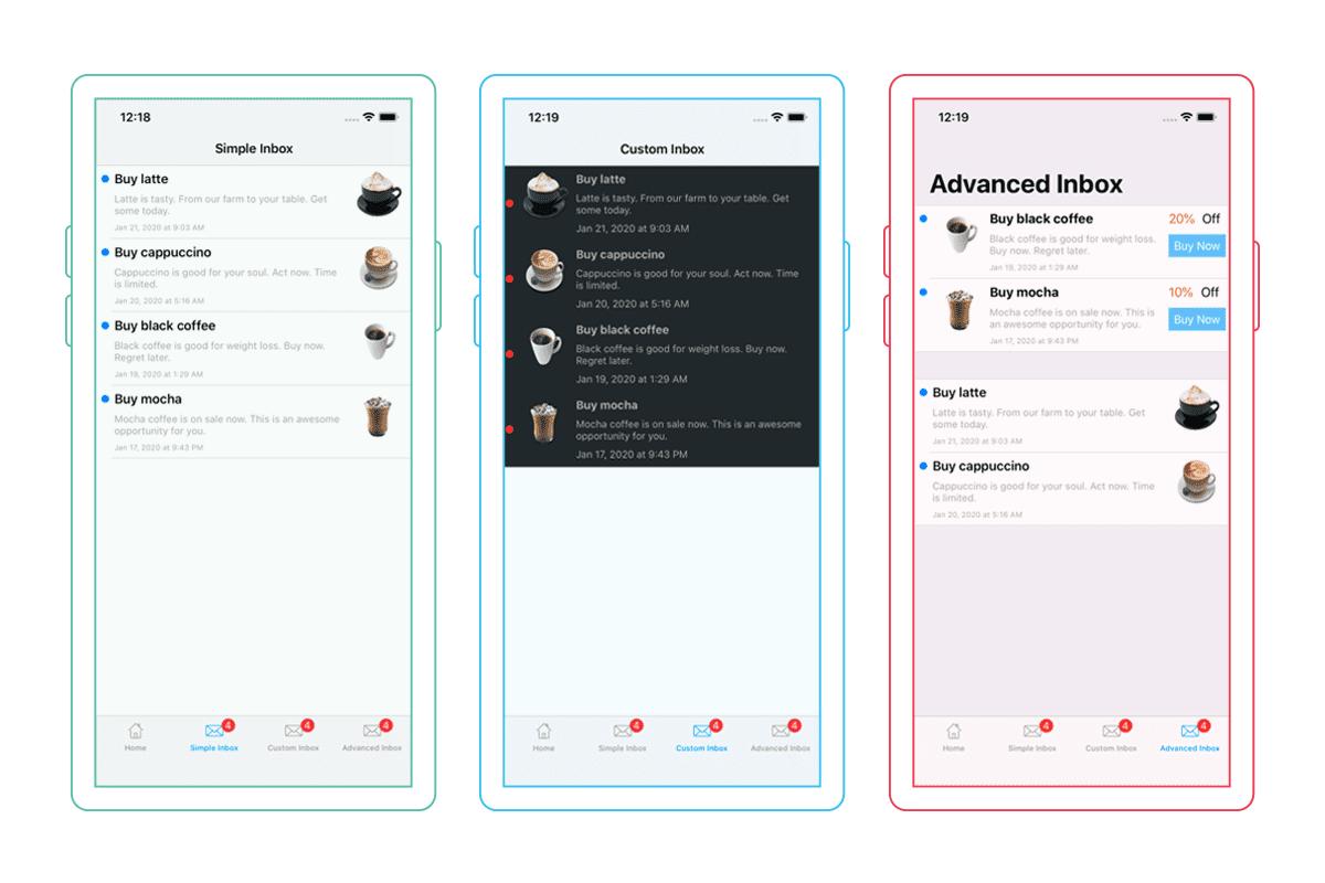 Mobile Inbox customization