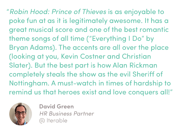 Quote on Robin Hood: Prince of Thieves