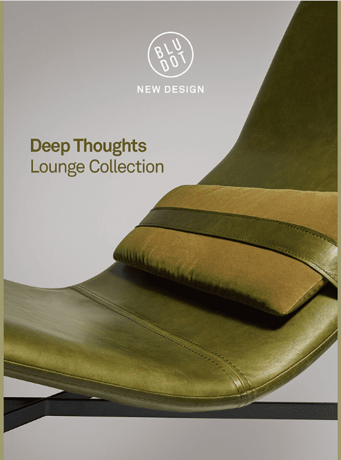 Blu Dot photography in Deep Thoughts lounge collection promotional email