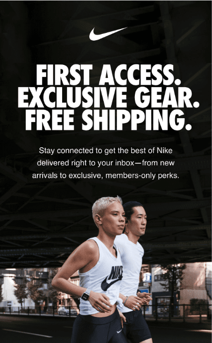 Nike's first access promotion