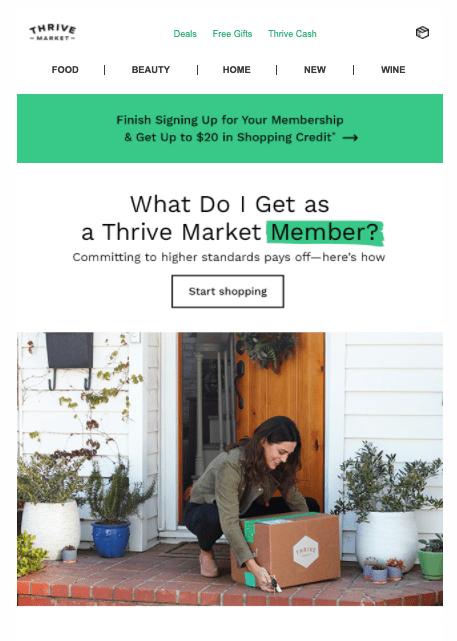 Thrive Market email - Pt 1