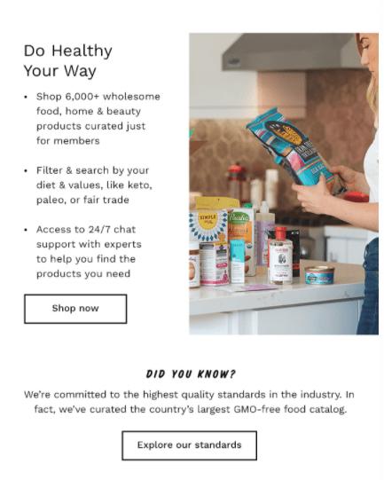 Thrive Market email - Pt 2
