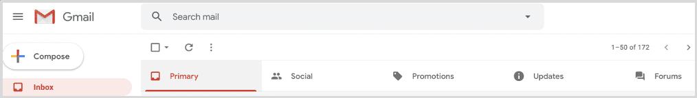 Inbox View of Gmail Inbox Tabs