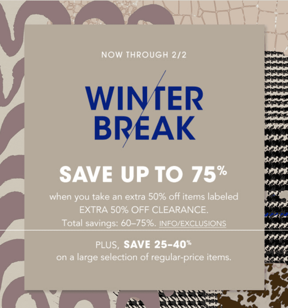 Winter Themed Fashion Retail Promotion