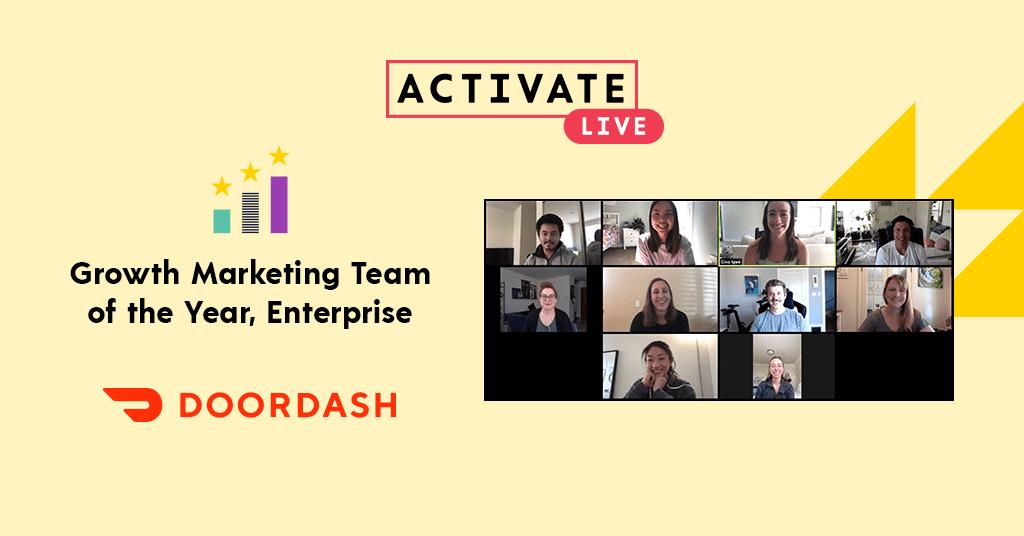 Growth Marketing Team of the Year, Enterprise: DoorDash