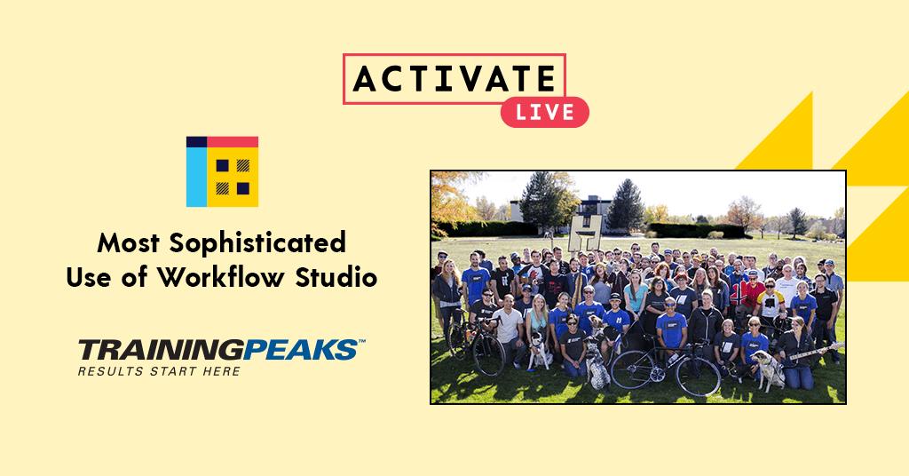 Most Sophisticated Use of Workflow Studio: TrainingPeaks