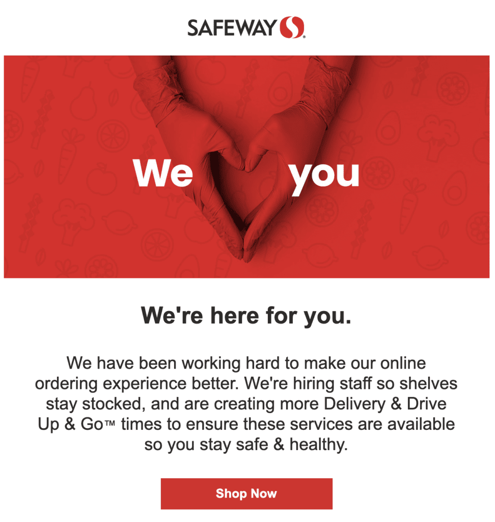 Safeway Job Postings Under COVID-19
