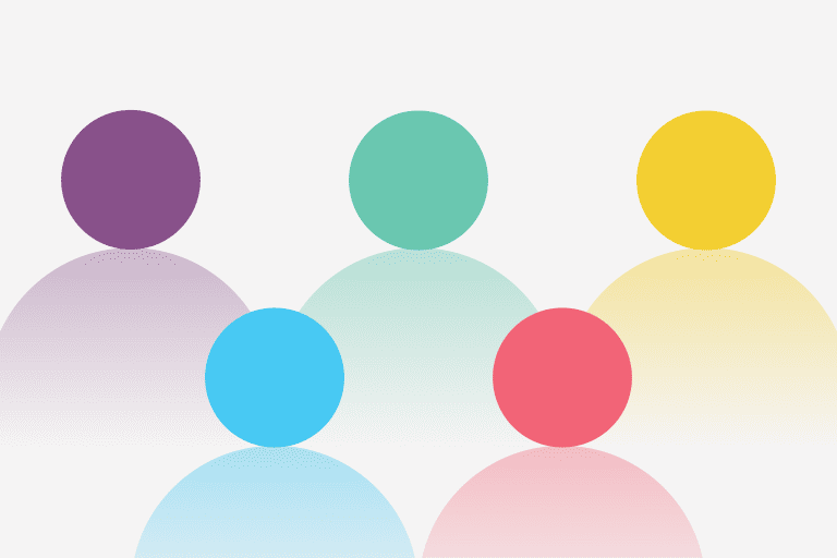 Illustration of 5 people to represent 5 steps to building an amazing company culture